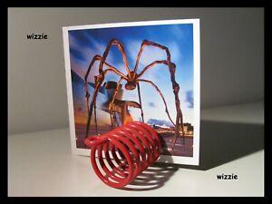 Red Spiral Card ~ Envelope Holder / Desk Organizer / Vintage 1970 's