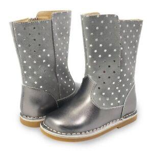 NIB LIVIE & LUCA Shoes Boots Vega Dusk Gray Silver Stars 9 10 11 12 13