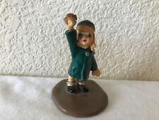 "Vintage Napco Girl Figurine ""JOY"" Green Coat #A3162 1958 w Foil Sticker RARE"