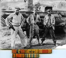 Photo. WW2. S Pacific. African American 809th Amphibian Truck Co - Ribbons