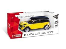 MONDO MOTORS CITY 1:43 AUTO DIE CAST MINI CLUBMAN GIALLA E NERA   ART. 53195