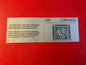 CANADA 1987 MNH BOOKLET PEACE TOWER