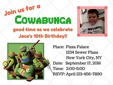Teenage Mutant Ninja Turtles Birthday Invitation Printable PDF/JPEG download