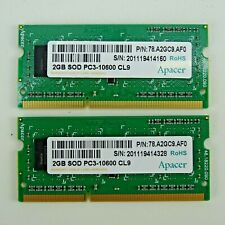 4GB 2x2GB DDR3 PC3-10600 1333MHz 204PIN SODIMM LAPTOP RAM Macbook Pro Dell HP