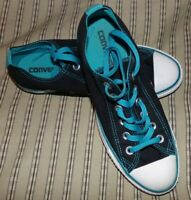 Converse Chuck Taylor All-Star Women's Size 8 Sneakers Tennis Shoes Black Teal