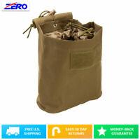 Tan Folding Magazine Utility PVC Magazine Drop Dump Pouch MOLLE Gear Compact