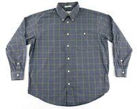 Orvis Mens XL Button Down Long Sleeve Shirt Plaid Checks 100% Cotton Flannel