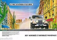 PUBLICITE ADVERTISING 055  1983  RENAULT  la JEEP LAREDO 4X4 ( 2 pages)