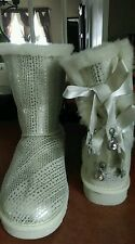 Ugg Bailey Bow I DO Boots With BLING Womens size 5 M New  $294.95 RETAIL