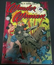 June-July 1943 Wonder Woman No. 5- WW2 ERA - Estimated Grade: 4-5 DR. PSYCHO 1st