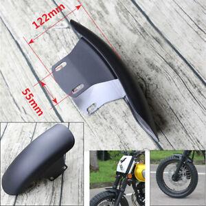 Motorcycle Cafe Racer Modified Front Fender Splash Mud Dust Guard Mudguard Black