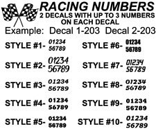 Racing Vinyl Numbers Decal Sticker For Car Bmx Dirt Bike Competition Outdoors