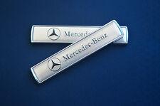 2Pcs Silver Auto Car Emblem Badge Decal Sticker Fender Fit for Mercedes-Benz New