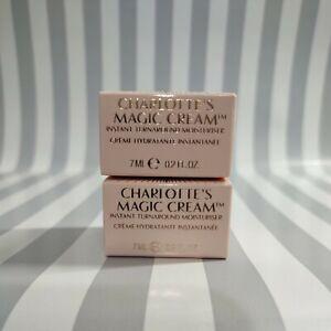 2 CHARLOTTE TILBURY Magic Cream Instant Turnaround Moisturizer Cream 7ml/.2oz ea