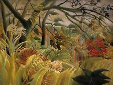 Animaux surpris rousseau tigre 12 x 16 pouces art imprimé poster photo HP2116