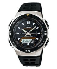 AQ-S800W-1E New Casio Watch Resin Tough solar 5 alarms World time Stopwatch