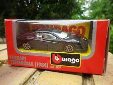 Ancienne BURAGO FERRARI TESTAROSSA 84 Noire n° 4157 Neuve en boite d'origine