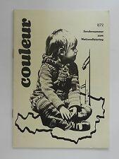Couleur 8/72 Sondernummer zum Nationalfeiertag MKV 1972