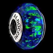 Authentic Alducchi Midnight Blue fire Opal .925 Silver European Charm Bead  #2.