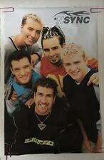 *Nsync Poster Group Shot Original Vintage Pin-up Retro 1998 Boy Band 90's Music