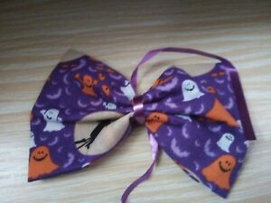 NEW HALLOWEEN DOG BOW TIE, UN-SEWN, JUST TIE TO YOUR OWN COLLAR. SIZE M, .(8)