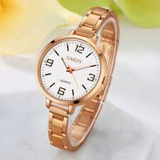 Ladies Fashion Quartz Rose Gold & White Dial Bracelet Linked Band Wrist Watch.