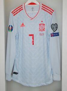 Match un worn shirt Spain national team Euro 2020 Juventus Italy Real Madrid