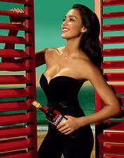 Jessica Alba 8x10 in black corset and pants