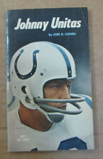 VINTAGE NFL 1971 JOHNNY UNITAS BOOK BY JOEL H. COHEN FIRST EDITION COLTS RARE