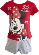Ropa de niña de 2 a 16 años rojos Disney de 100% algodón