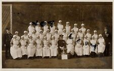 Offcer Nurses St John Ambulance Brigade with trophy Radcliffe Manchester ? photo