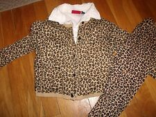 GYMBOREE 3 PC TOP SIZE 6 7 YEARS OUTFIT SHIRT PANTS KITTY GLAMOUR SWEATER LEGGIN