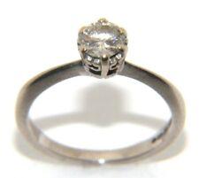 da donna / donna,18ct oro fidanzamento anello con diamante solitario,UK MISURA H