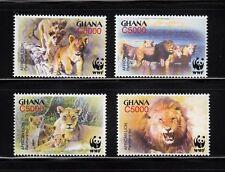 103842/ Ghana 2004 - Mi 3701/4 - Afrikanischer Löwe / WWF - **