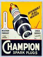 Champion spark plugs retro vintage style metal wall plaque sign