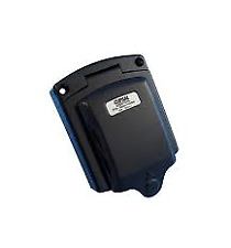 New Style Clipsal Black External 15Amp Power Inlet
