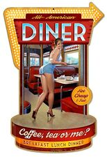 All American Diner Metal Sign - Hand Made in the USA with American Steel