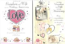 Grandson & Wife Anniversary Card, Various Designs To Choose From.