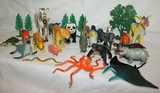 Bundle of different toy animals with trees, farm, zoo and sea etc