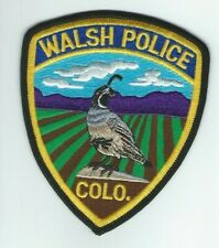 COLORADO - Walsh Police patch