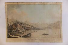 Vue du village et du lac de Brientz, par J.L. Aberli, vers 772