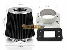 Mass Air Flow Sensor Intake Adapter + BLACK Filter For 90-93 Mazda Miata 1.6L L4