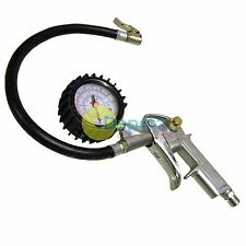 AIR INFLATOR TYRE DIAL GAUGE COMPRESSOR FLEXIBLE PRESSURE CAR VAN TRUCK METRE