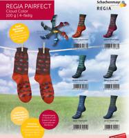 6 x 100 gr.Sockenwolle/Strumpfwolle Regia Cloud Color