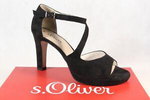 S.Oliver Sandal Sandals High-Heeled Ankle-Strap Sling Sandals Black 28323 New