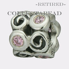 Authentic Pandora Silver Swirl Pink CZ  Bead  790263PCZ  *RETIRED*