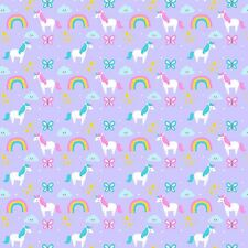 Printed Bow Fabric A4 Canvas Unicorns Rainbows Butterfly Clouds U8 glitter bows