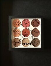 NOVO eyeshadow palette 9 Assorted colors Smooth matte shimmer Brown Coral Red