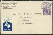 AUSTRALIA 1955 cover to New Zealand, OLYMPIC GAMES cinderella..............58915