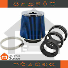SAAS High Flow Performance Blue Air Pod Filter Chrome Top Multi Fit 60 - 100mm